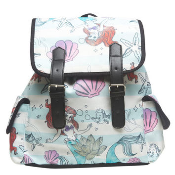 Little Mermaid Striped Backpack | Wet Seal