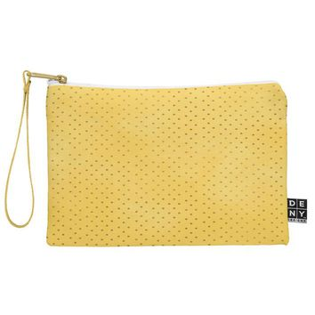 Allyson Johnson Sunny Yellow Dots Pouch