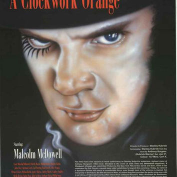 A Clockwork Orange Film Review Poster 23x34