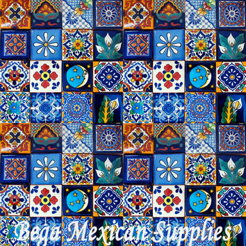 50 Mexican Talavera Tiles Mixed Designs 2x2 Mosaic Tiles Craft tile
