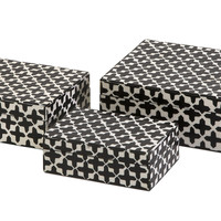 Lizzie Bone Boxes - Set of 3