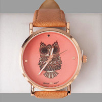 HOUGHTON OWL PRINT WATCH