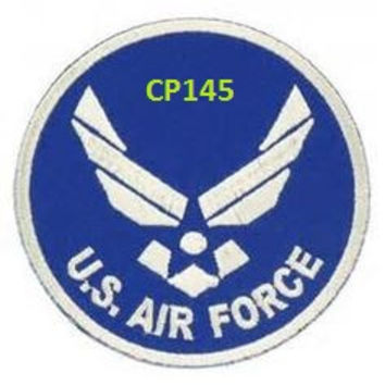 U.S. AIR Force White on Dark Blue patch for vest jacket
