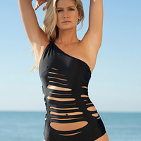 Laser Cut One Shoulder Swimsuit | Sexy Clothes Womens Sexy Dresses Sexy Clubwear Sexy Swimwear | Flirt Catalog