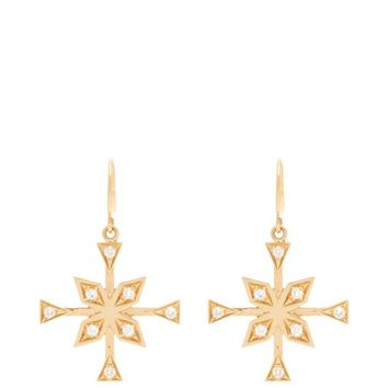 Compass 18kt gold & diamond earrings | Azlee | MATCHESFASHION.COM US
