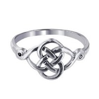 Sterling Silver Polished Finish 10 x 20mm Celtic Rounded Knot Design 2mm Wide Band Ring Size 5, 6, 7, 8, 9, 10: Jewelry: Amazon.com