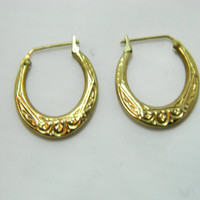 solid 14K yellow gold earrings