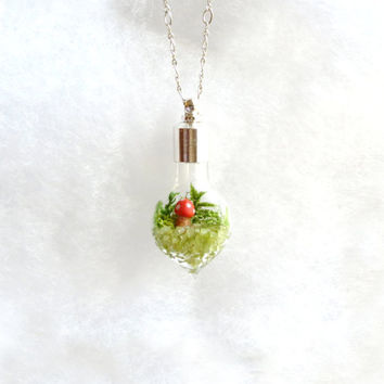 Custom Lost World Mini Terrarium Necklace by Hieropice on Etsy