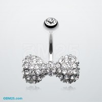 Tiffany Inspired Bow-Tie Belly Button Ring