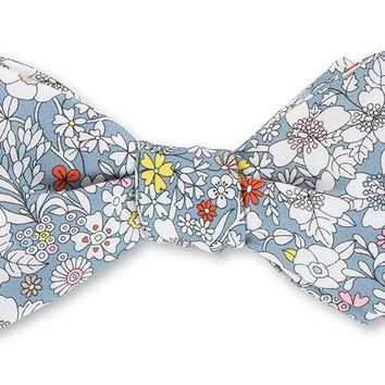 Gray June's Meadow Liberty Floral Bow Tie - B4207