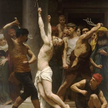 Handmade Oil painting reproduction The Flagellation of Our Lord Jesus Christ by William Bouguereau