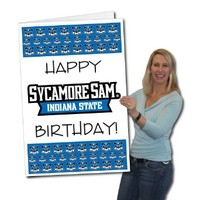 Indiana State University 2'x3' Giant Birthday Greeting Card Plus Yard Sign
