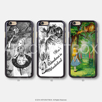 Alice pencil sketch drawing Disney iPhone 6 6 Plus 5S 5C case 425
