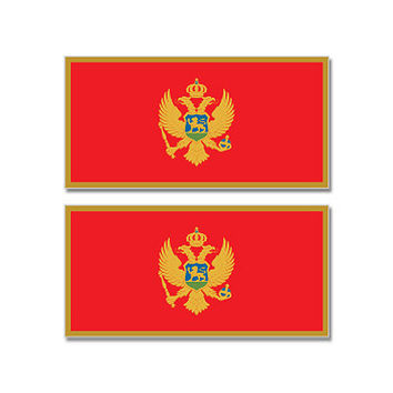 Montenegro Country Flag Sheet of 2 Stickers