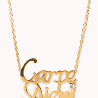 Statement Carpe Diem Necklace | FOREVER 21 - 1000128076