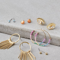AEO Gold Stud Earring 6-Pack, Gold