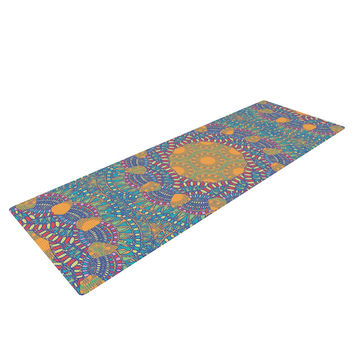 "Miranda Mol ""Prismatic Orange"" Orange Blue Abstract Yoga Mat"