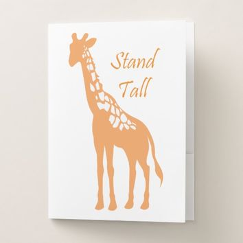 Stand Tall Pocket Folder