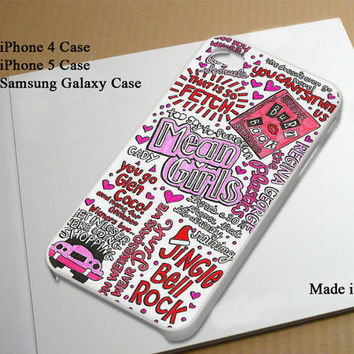 Mean Girls Collage Best Seller Phone Case on Etsy for iPhone 4, iPhone 4s, iPhone 5 , Samsung Galaxy s3 and Samsung Galaxy s4