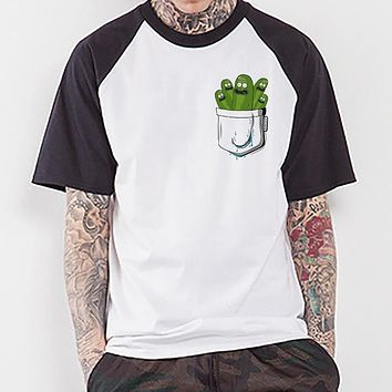 New Funny Pickle Rick T-shirt Mens Ricka And Morty Tshirt New Anime Funny T-shirt Summer T Shirt Rick Morty Cool Tops Tees Homme