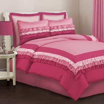 Lush Decor Starlet Juvy Comforter Set in Pink