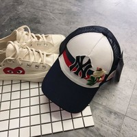 MLB x Gucci Flower Embroidered Hat