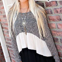 Sweater Ruffle Tunic Top