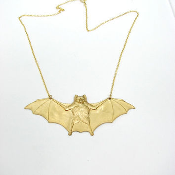 vampire bat necklace - halloween jewelry