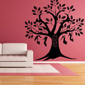 Vinyl Wall Decal Sticker Shoe Tree #OS_AA846