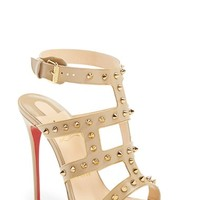 Women's Christian Louboutin 'Sexy Strapi' Studded Ankle Strap Sandal,