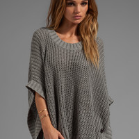 LA Made Jersey Knit Poncho Sweater in Heather Grey from REVOLVEclothing.com
