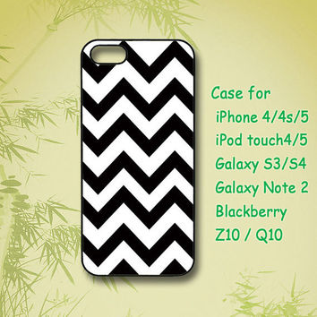 Black Chevron - iphone 4 case , iphone 5 case , Samsung Galaxy S3 case, Samsung Galaxy S4 case,  Samsung Galaxy Note 2 case