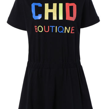 Plus Size Colorful Letter  A-Line Dress