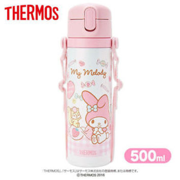 My Melody Thermos Sports Bottle 500ml ❤ Sanrio Japan