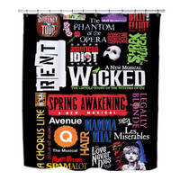 Broadway Musical Collage Shower Curtain