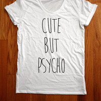 Cute But Psycho Scoopneck Tee by Valonar Sensei from CULT REPUBLIC