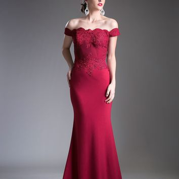 Long Off Shoulder Prom Dress Formal Evening Gown