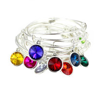Birthstone Expandable Wire Bracelet