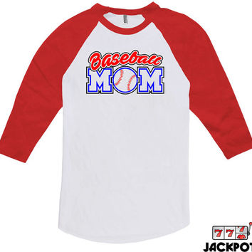 Baseball Gifts For Mom Baseball Mom Shirt Mothers Day Gift Baseball Lover Shirt Baseball Mom Gift Baseball Tee American Apparel Raglan MD624