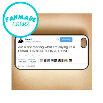 Snake Habitat Tweet iPhone 4/4s/5/5s/5c/6/6 Plus, iPod 4/5, Samsung Galaxy s3/s4/s5 Rubber Case by FanMadeCases