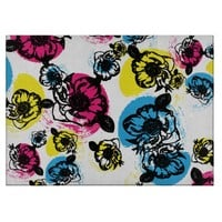 Large Floral Print Cutting Board