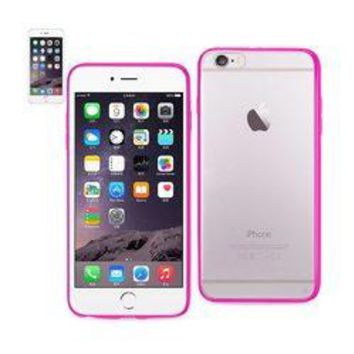 REIKO IPHONE 6 PLUS/ 6S PLUS CLEAR BACK FRAME BUMPER CASE IN PINK