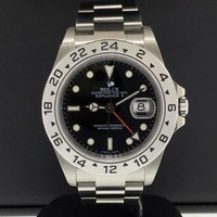 "Rolex Explorer II 40mm GMT Stainless Steel Ref. 16570 ""F"" Serial Unworn NEW"