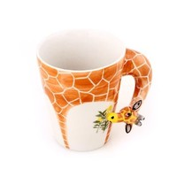 Homee Hand-Painted Ceramic Cups, Giraffe Style