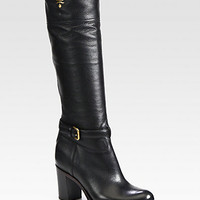 Leather Knee-High Boots - Zoom - Saks Fifth Avenue Mobile
