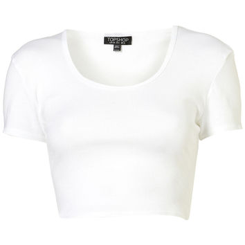 Crop Tee - Jersey Tops - Clothing - Topshop USA
