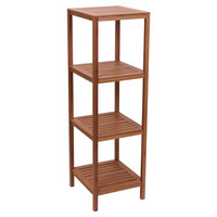 Household Essentials Bamboo 4-shelf Cube Tower