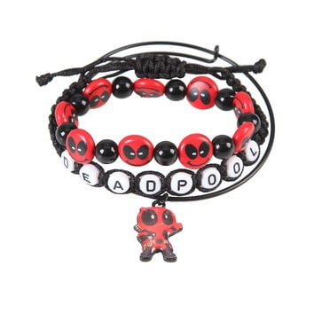 Marvel Deadpool Smiley Bracelet Set