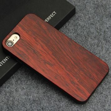 Luxury Wood Phone Cases For iPhone 7 Case 8 Natural Bamboo Wooden Case Cover for iPhone 8 Capa Coque For Men Women