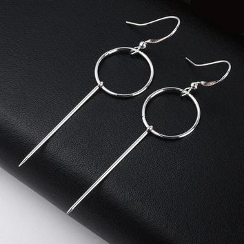 Personalized Simple Temperament Geometry Drop Earrings Hollow  Alloy Strip Dangle Pendientes Earrings For Women Brincos